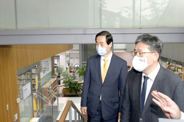 박용우 문화체육관광부장관 이진아도서관 방문